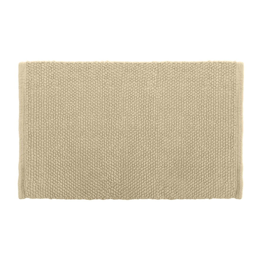 Colordrift Popcorn 20-in x 30-in Natural Cotton Bath Rug