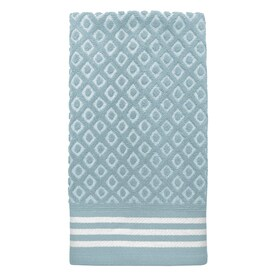 cotton hand towels for bathroom. colordrift diamond 16.0-in x 26.0-in aqua cotton hand towel towels for bathroom