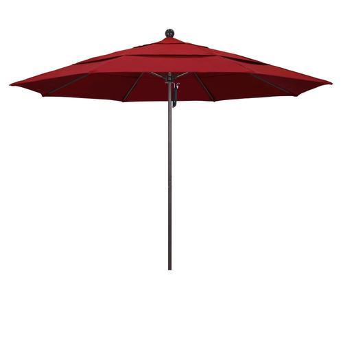 California Umbrella Red Market 11 Ft No Tilt Octagon Patio