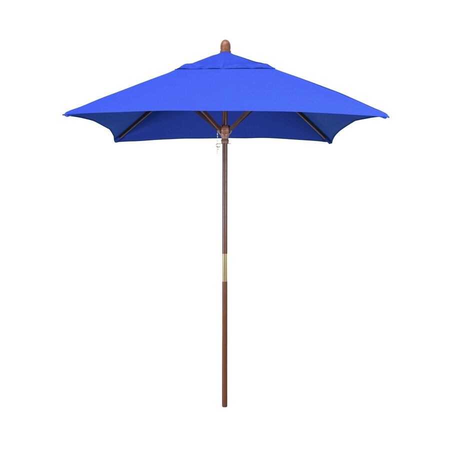 California Umbrella Mare Pacific Blue Market 6 Ft Patio