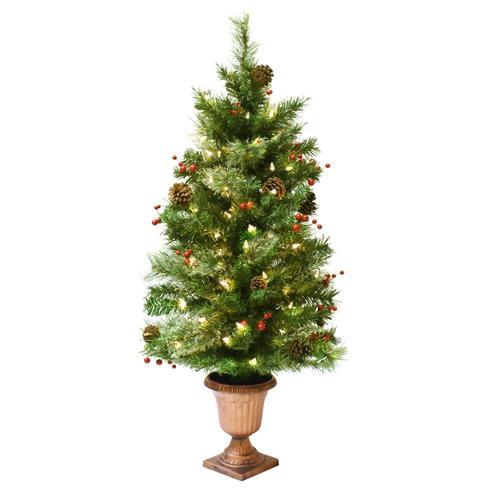 50 Foot Christmas Tree: Astella 3.6-ft Pre-lit Douglas Fir Slim Flocked Artificial