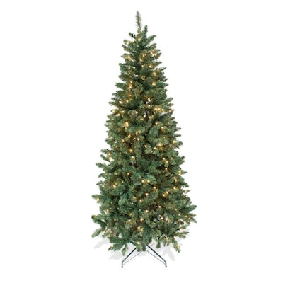 Douglas Fir Christmas Tree.7 Ft Pre Lit Douglas Fir Artificial Christmas Tree With 300 Constant White Clear Incandescent Lights