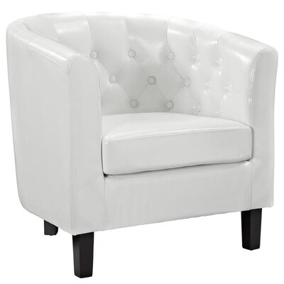 Peachy Modway Cheer Modern White Vinyl Club Chair At Lowes Com Alphanode Cool Chair Designs And Ideas Alphanodeonline