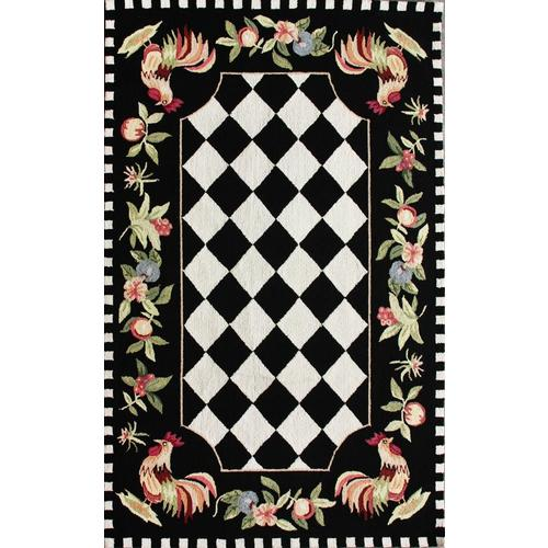 Black Indoor Handcrafted Area Rug (Common: 7 x 9; Actual: 7.5-ft W x 9.5-ft  L)