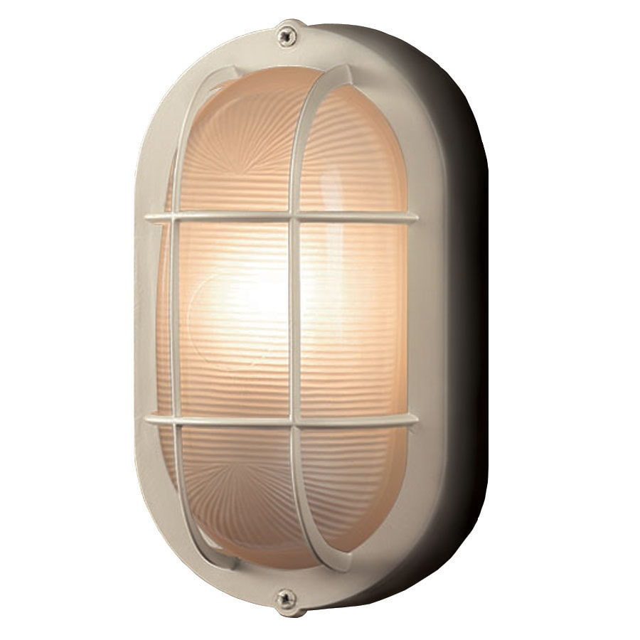 Portfolio 8.27-in H Sand White Outdoor Wall Light
