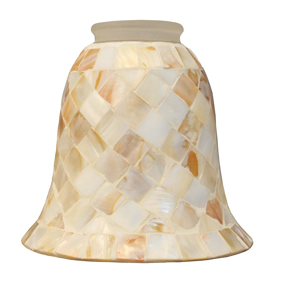 Allonby 5 2 in H 35 W Styled In Mosaic Etched Glass Bell Vanity Shop Light Shades at Lowes com
