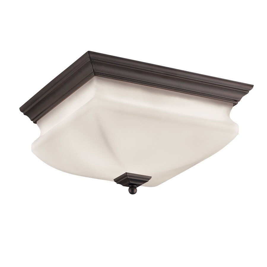 Shop Portfolio 12 6 In W Bronze Ceiling Flush Mount Light At Lowes Com