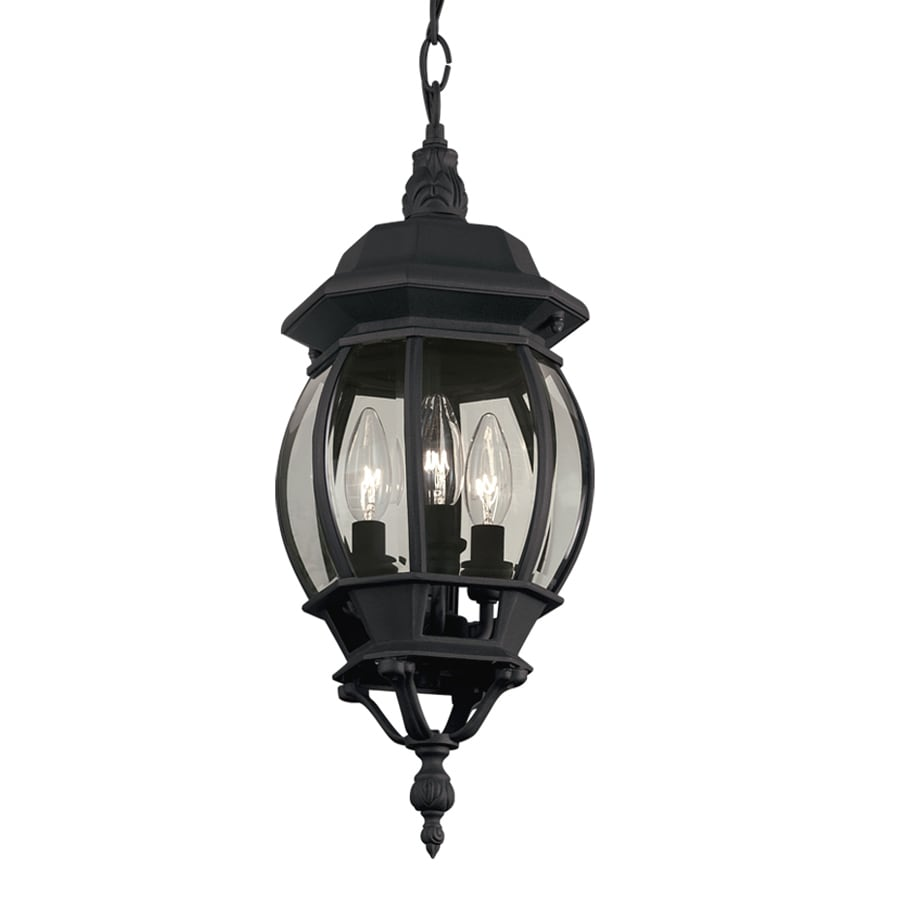 outdoor pendant lighting fixtures pendant mounted light portfolio black multilight traditional clear glass globe pendant at