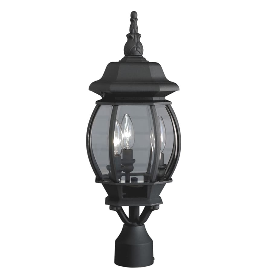 Outdoor Lamp Post B Q: Portfolio 60-Watt 21.34-in Black Traditional Post Light At