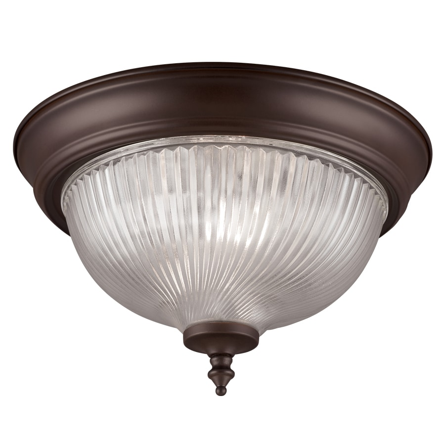 Project Source 11-in W Painted Oil-Rubbed Bronze Flush Mount Light