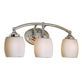 Style Selections Calpin 3 Light 9 02 In Chrome Vanity Light Bar