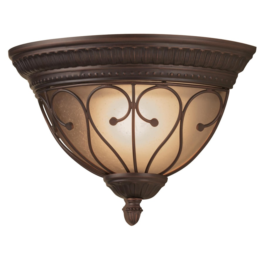 Portfolio Charton Place 13.19-in W 1-Light Oil-Rubbed Bronze Pocket Hardwired Wall Sconce