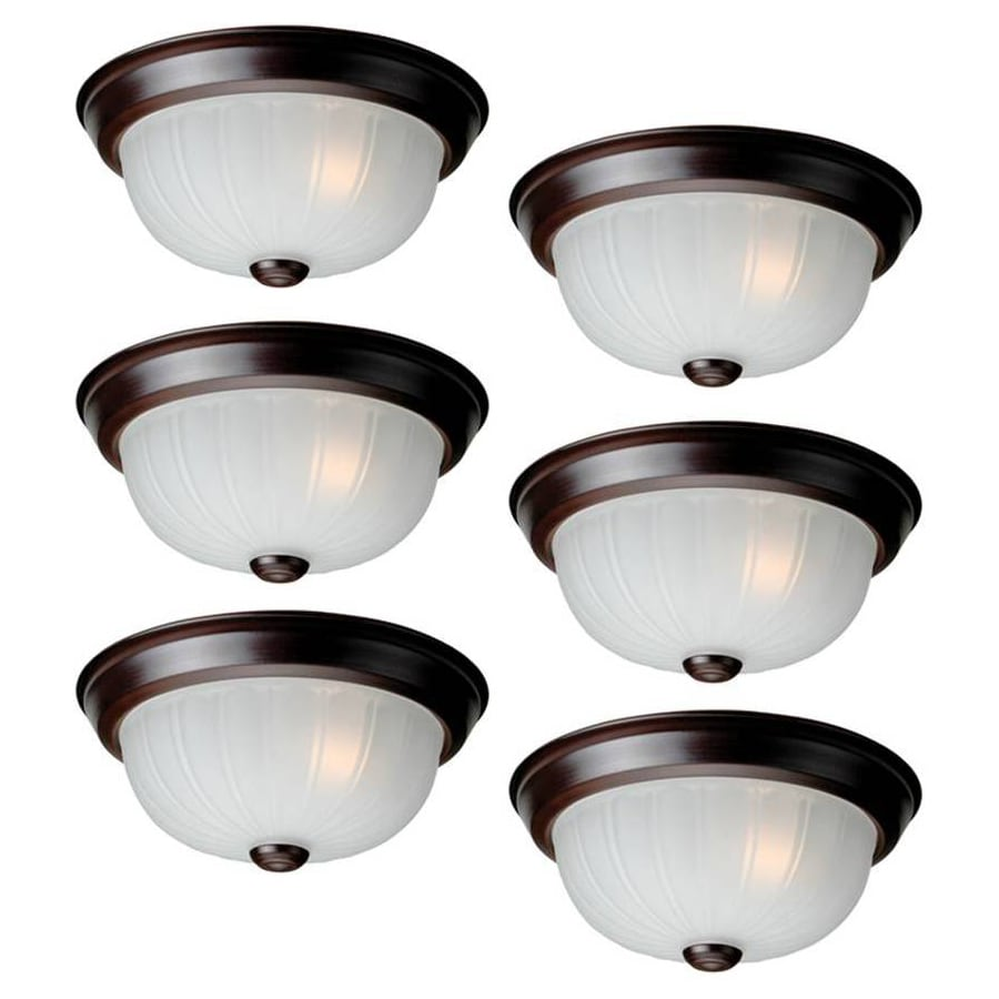 Project Source 6-Pack 10-in W Bronze Ceiling Flush Mount Light