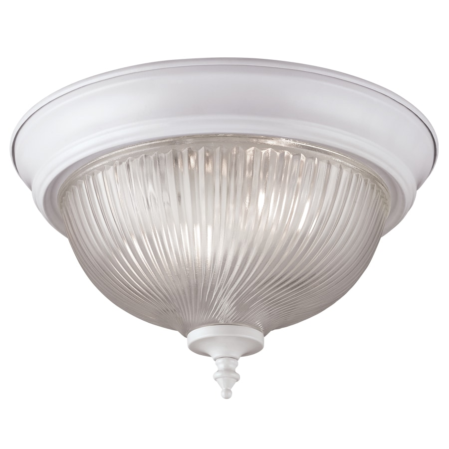 11 in w semi gloss white standard flush mount light at