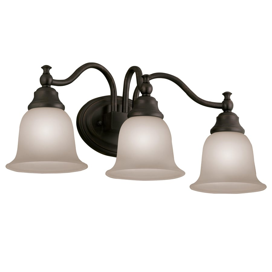 Bathroom Light Fixtures Oil Rubbed Bronze shop portfolio brandy chase 3-light 9.45-in oil-rubbed bronze