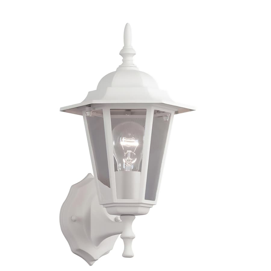 Portfolio 14-in H Sand White Outdoor Wall Light