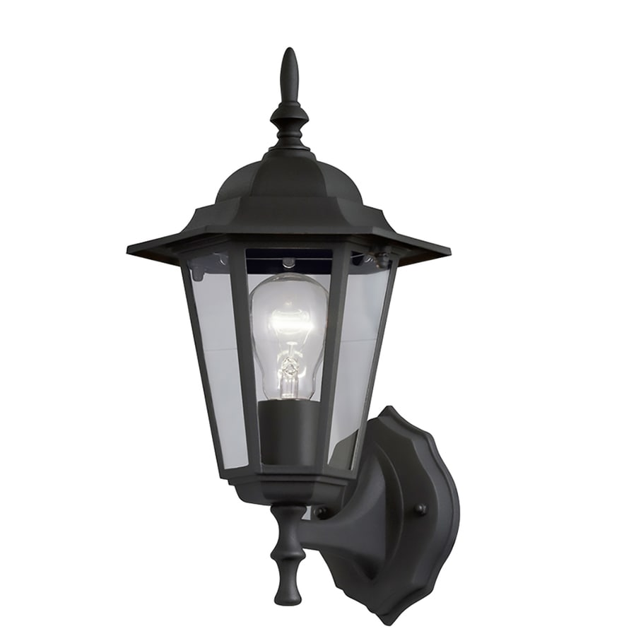 Outdoor Hanging Lanterns Lowes: Portfolio 14-in H Sand Black Medium Base (E-26) Outdoor