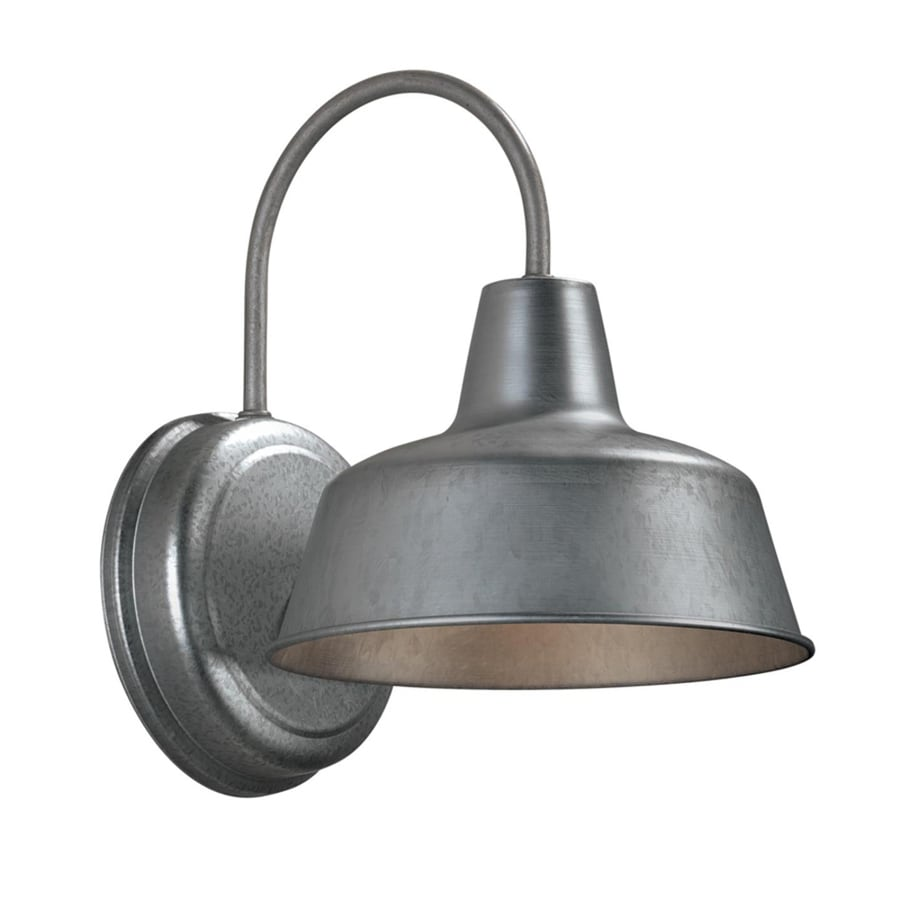Shop portfolio ellicott h galvanized dark sky for Outdoor yard light fixtures