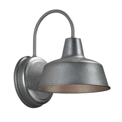 Ellicott 10 75 In H Galvanized Dark Sky Medium Base E 26 Outdoor Wall Light