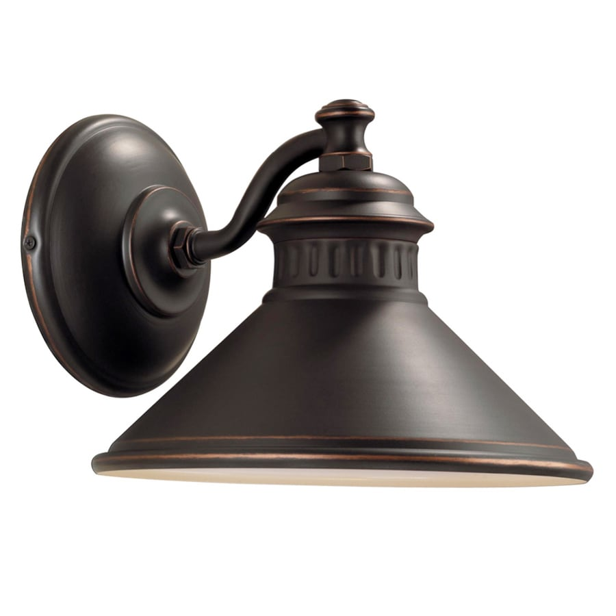 Dark Sky Wall Lights : Shop Portfolio Dovray 8.12-in H Oil-Rubbed Bronze Dark Sky Outdoor Wall Light at Lowes.com