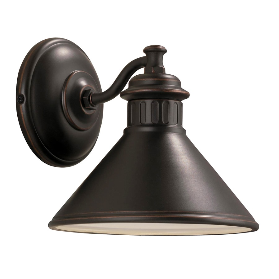 Shop Portfolio Dovray 7.75-in H Oil-Rubbed Bronze Dark Sky Outdoor Wall Light at Lowes.com