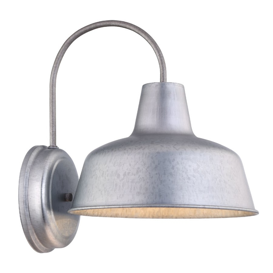 Exterior Wall Sconces Lowes : Shop Portfolio Ellicott 13.12-in H Galvanized Dark Sky ...