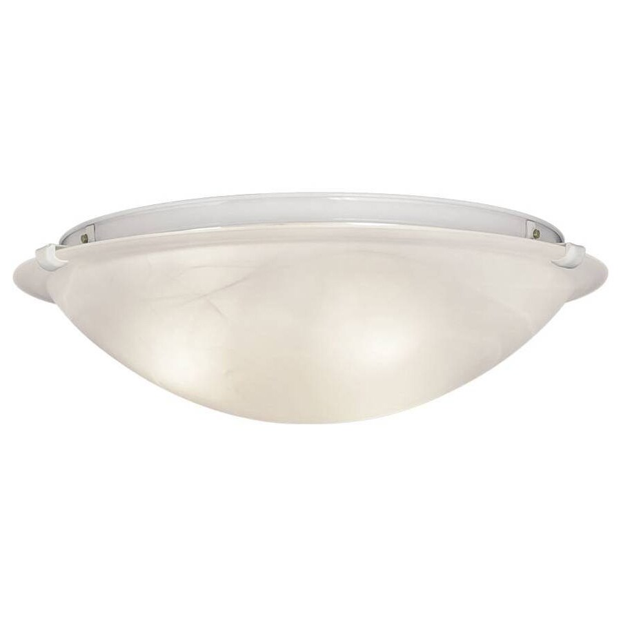 Shop portfolio w white ceiling flush mount light - Flush mount bathroom ceiling lights ...