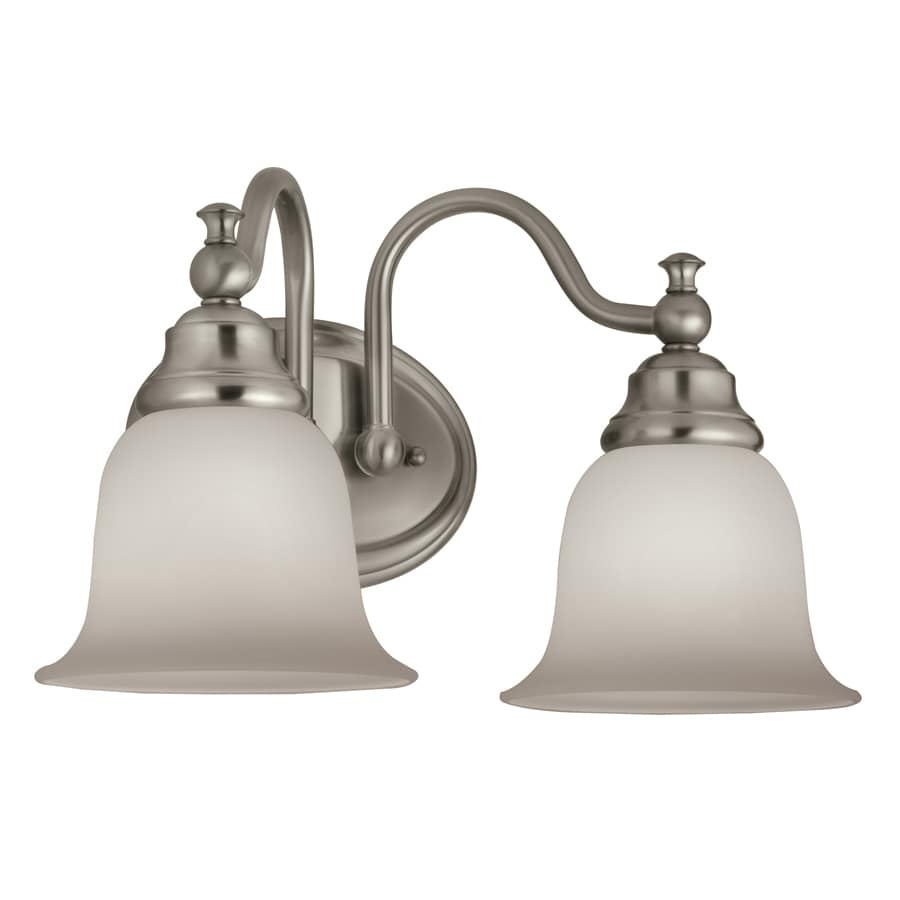 Vanity Lights In Brushed Nickel : Shop Portfolio Brandy Chase 2-Light 10-in Brushed Nickel Vanity Light Bar at Lowes.com