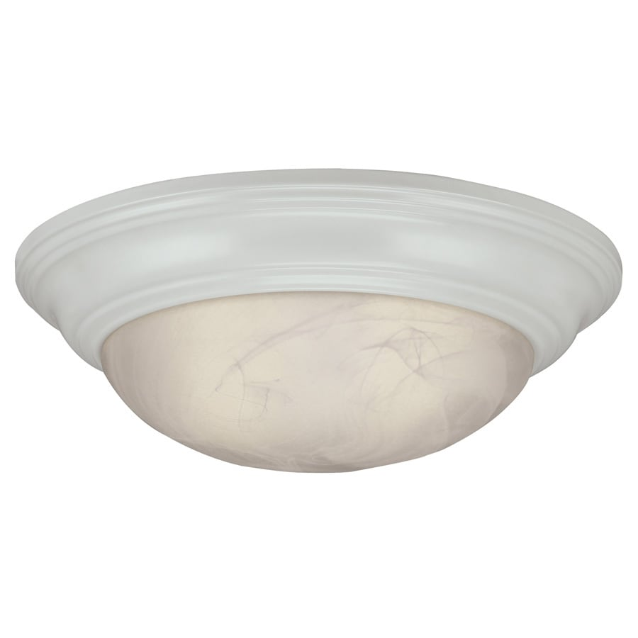 Shop Portfolio 15 In W White Flush Mount Light At Lowes Com