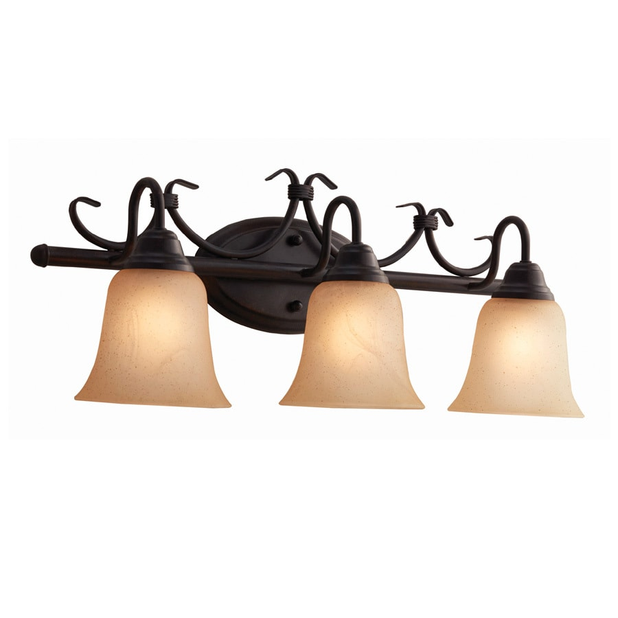 Shop Portfolio Stone hollow 3-Light 24-in Bronze Vanity Light Bar at ...