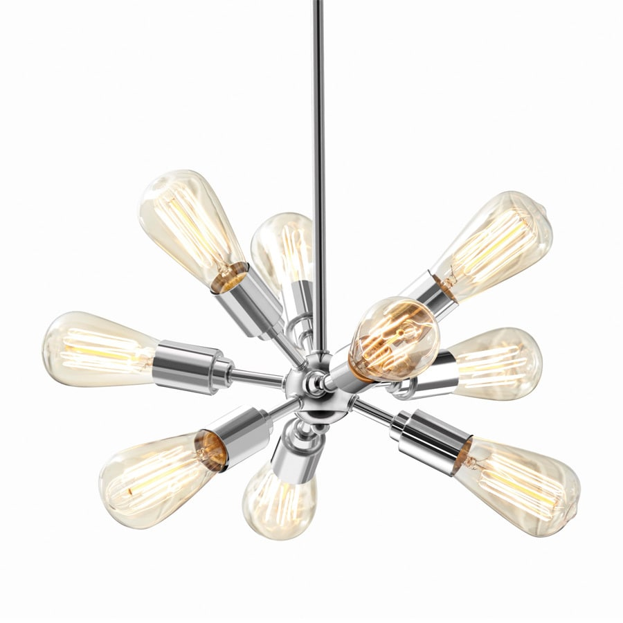 Style Selections Grayford 19.69-in Brushed Nickel Vintage Mini Star Pendant