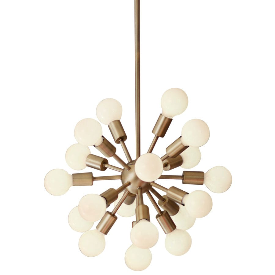 allen + roth Dystra 21.7-in 18-Light Soft gold Industrial Tiered Chandelier