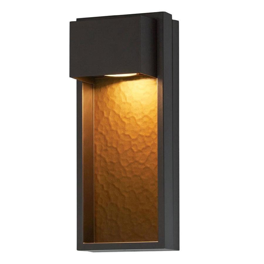 Portfolio 15 9 In H Bronze Dark Sky Led Outdoor Wall Light