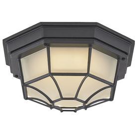 outdoor ceiling mount light fixtures portfolio 1125in black energy star outdoor flush mount lights at lowescom