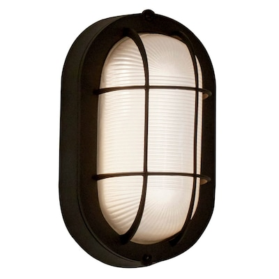 4 13 In H Black Led Outdoor Wall Light Energy Star