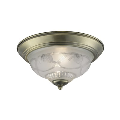 11 4 In Antique Br Traditional Flush Mount Light
