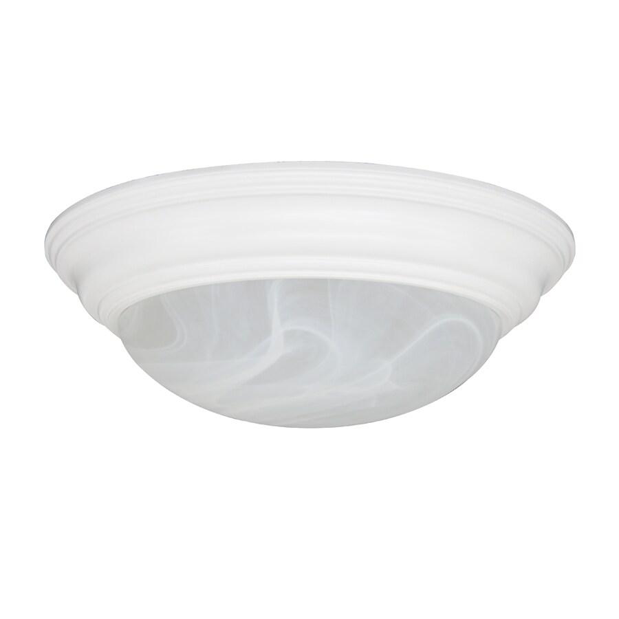 Portfolio 15-in W White Flush Mount Light