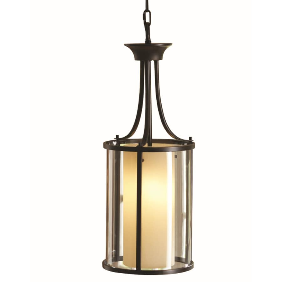 Hanging Light Fixtures At Lowes: Shop Allen + Roth 15.35-in W Oil-Rubbed Bronze Pendant