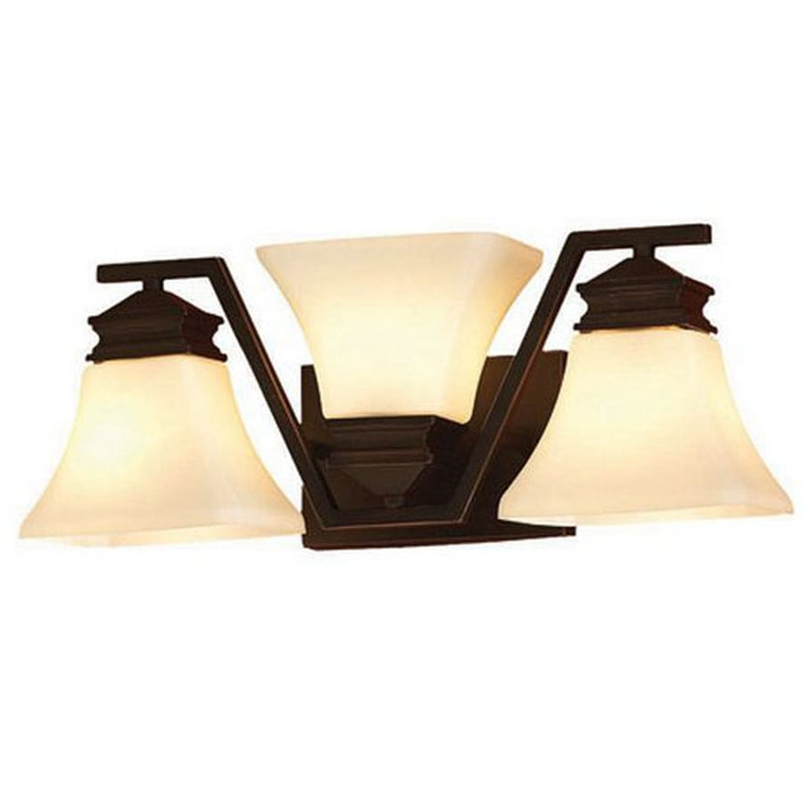 Captivating Allen + Roth 3 Light 7.13 In Oil Rubbed Bronze Vanity Light