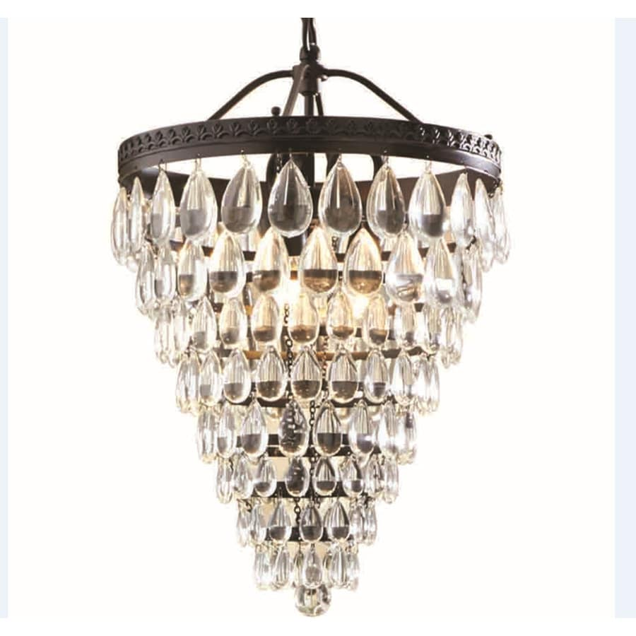 Shop Allen Roth Eberline In OilRubbed Bronze Crystal Single - Chandelier crystals lowes