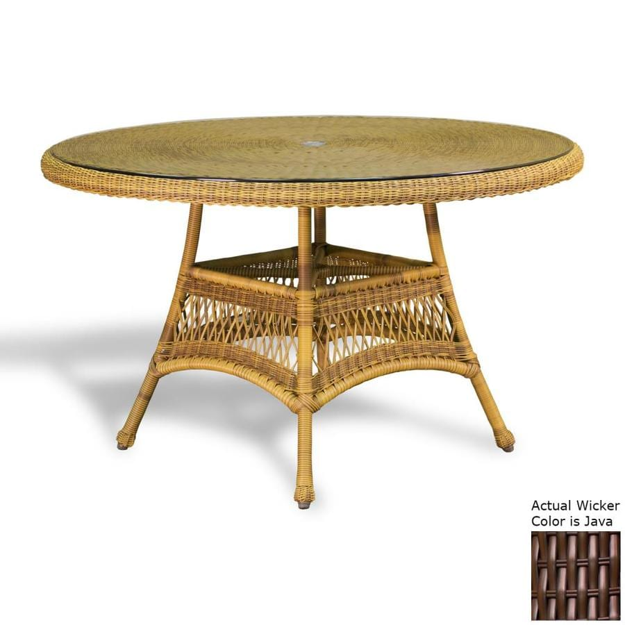 Tortuga Outdoor Lexington Round Wicker Dining Table 48 In