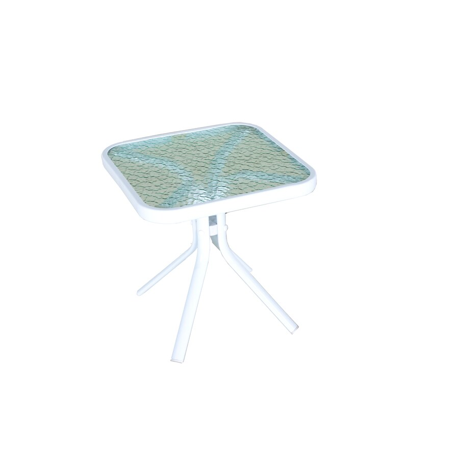 Garden Treasures Pagosa Springs 18-in W x 18-in L Square Steel End Table