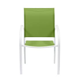 Garden Treasures Pagosa Springs White Steel Stackable Patio Dining Chair At Lowes Com