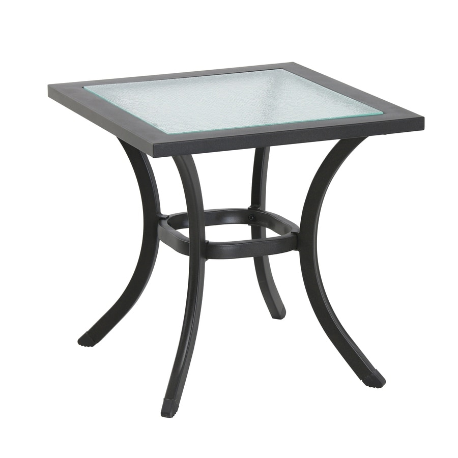 Shop garden treasures vinehaven 20 in w x 20 in l square for Outdoor patio side tables