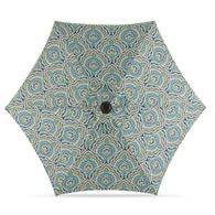 Garden Treasures Blue Paisley Market 7.5-ft Patio Umbrella Deals