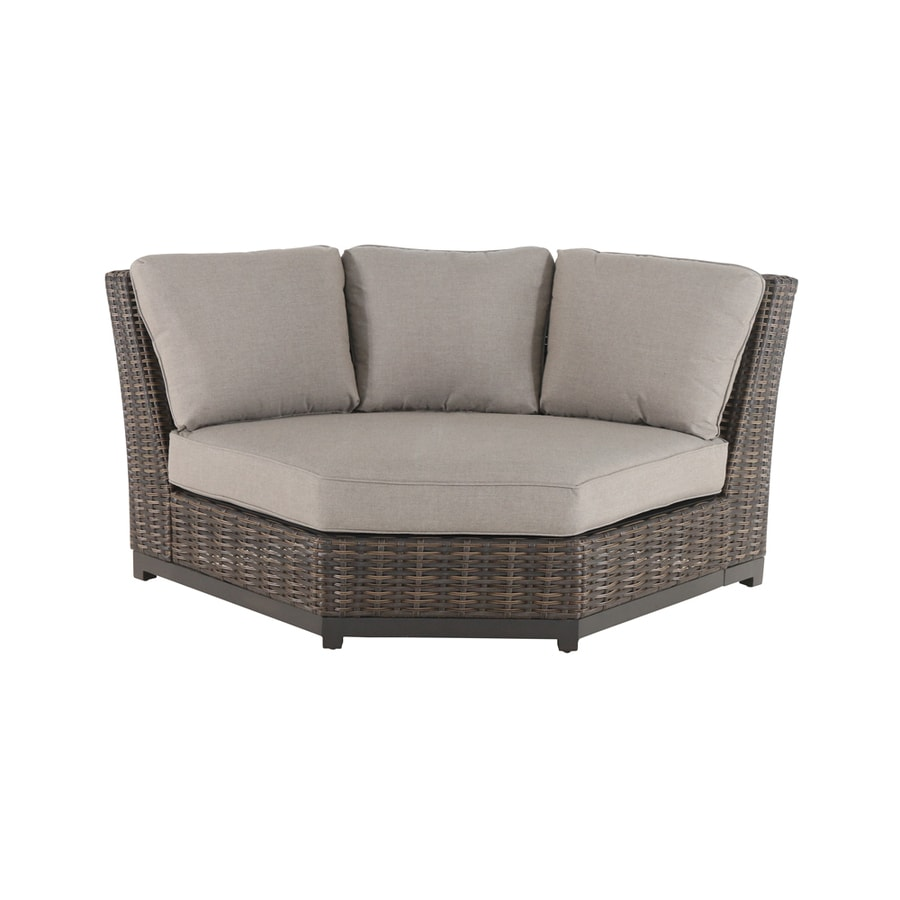 allen + roth Altadena 1-Piece Steel Frame Patio Conversation Set with Tan  Sunbrella Cushion - Shop Patio Conversation Sets At Lowes.com