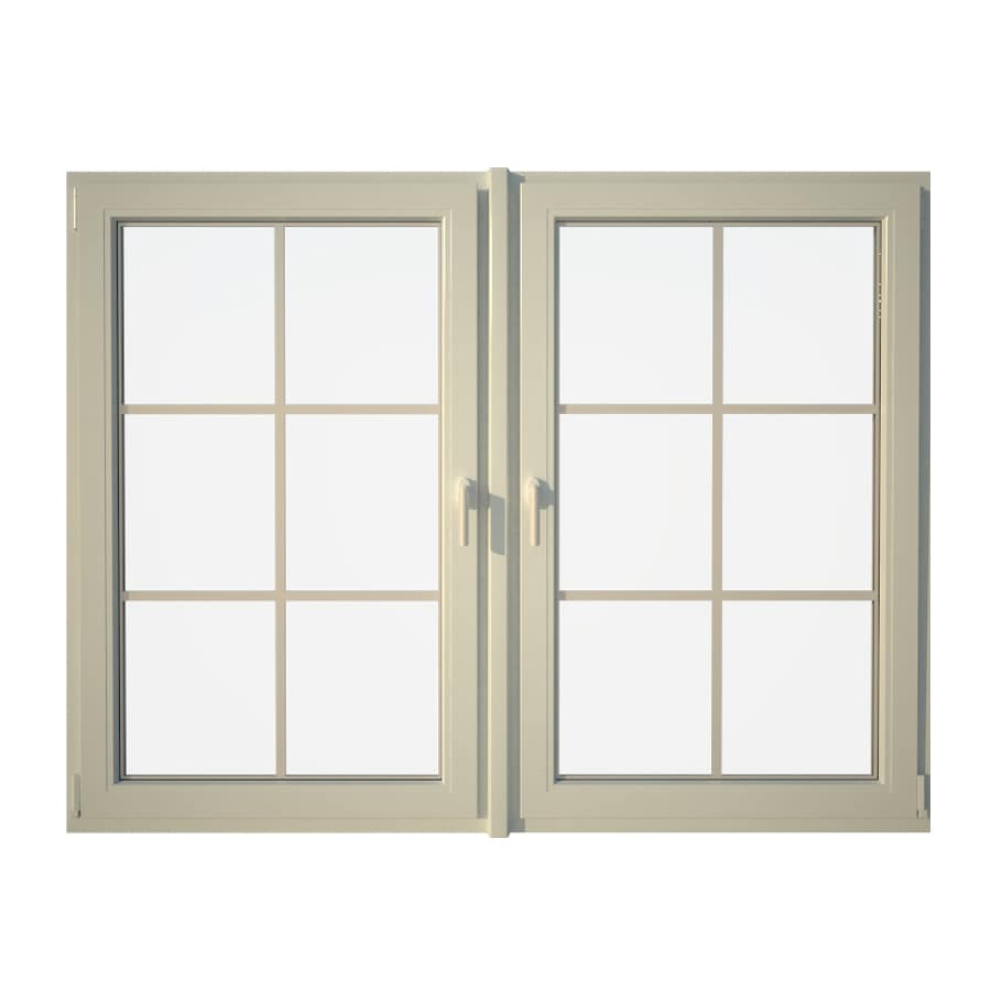 Eurowindows Group Tilt and Turn 2-Lite Vinyl Double Pane Annealed Replacement Egress Casement Window (Rough Opening: 72.5-in x 48-in Actual: 72-in x 47.5-in)