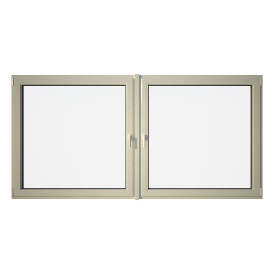 Eurowindows Group Tilt and Turn 2-Lite Vinyl Triple Pane Annealed Replacement Egress Casement Window (Rough Opening: 96.5-in x 48-in Actual: 96-in x 47.5-in)