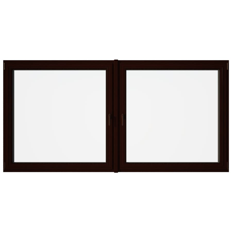 Eurowindows Group Tilt and Turn 2-Lite Vinyl Double Pane Annealed Replacement Egress Casement Window (Rough Opening: 96.5-in x 48-in Actual: 96-in x 47.5-in)