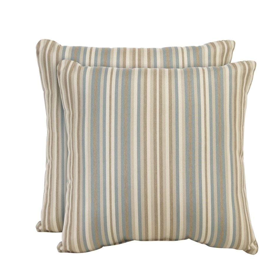 allen + roth Set of 2 Sunbrella Mist UV-Protected Square Outdoor Decorative Pillows